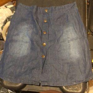 25900664c3 Dresses & Skirts - Jean skirt all buttons work!